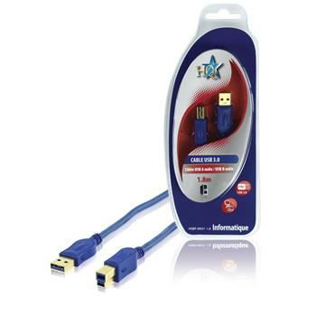 CÂBLE INFORMATIQUE CABLE USB 3.0 MALE/MALE B 1.8M HQ