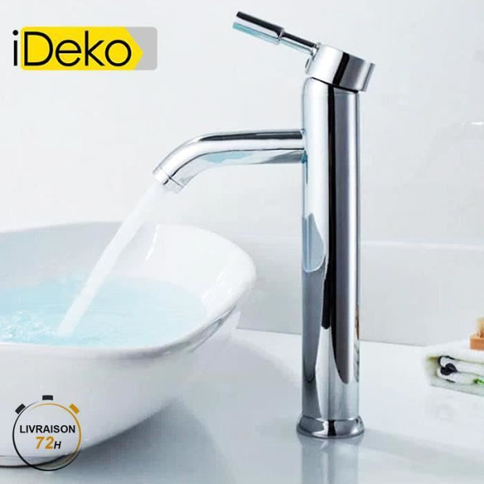 ideko robinet mitigeur lavabo chrome haut flexible achat vente robinetterie sdb ideko. Black Bedroom Furniture Sets. Home Design Ideas