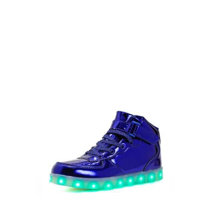 High Top Light Up Sneakers Solid Color Mode Sneakes Boy 9603662