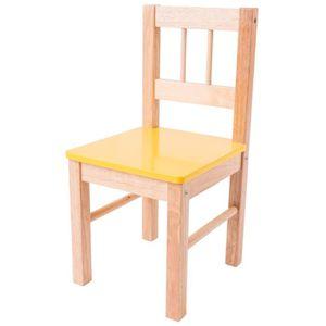 DINETTE - CUISINE Chaise en bois (Jaune)