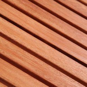 Ensemble table et chaise de jardin Salon de jardin 4 pcs pour enfants Eucalyptus-MEE