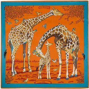 ECHARPE - FOULARD Foulards - écharpe - 130 CM * 130 CM Girafe Famill