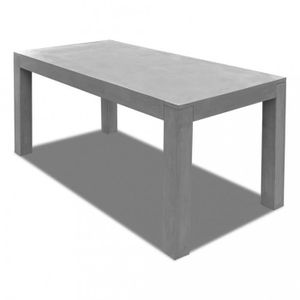 Tables d 39 exterieur table rectangulaire en beton achat for Table exterieur beton