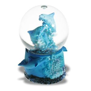 a impexit Boule Neige Dauphin avec Figurine Dauphin en resine 9,5//8,5//7,5 cm