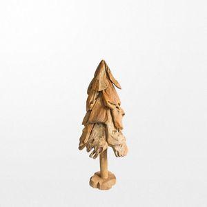 SAPIN - ARBRE DE NOËL Sapin en bois rond de 100 cm avec base