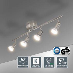 PLAFONNIER BOJIM Plafonnier 4 Spot LED orientables avec ampou
