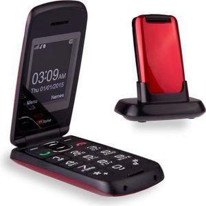 Téléphone portable TTfone Star- Téléphone Mobile à Clapet et à Grosse