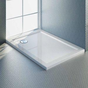 RECEVEUR DE DOUCHE Receveur de douche 80x110x4 cm rectangle acrylique