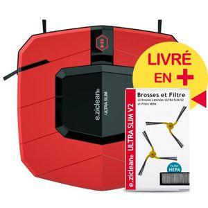 ASPIRATEUR ROBOT EZIclean® Ultra Slim Red  V2, Aspirateur Robot Ult