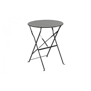 TABLE METAL PLIANTE RONDE NOIR CAMARGUE HESPERIDE - Achat ...