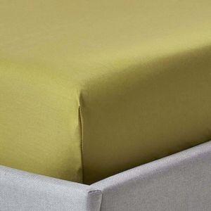 DRAP HOUSSE Drap-housse uni 120 x 190 cm 100 % coton égyptien