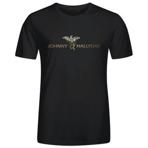 tee shirt johnny halliday achat vente tee shirt johnny halliday pas cher cdiscount. Black Bedroom Furniture Sets. Home Design Ideas