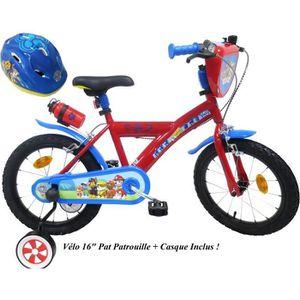VÉLO ENFANT Vélo 16'' PAT PATROUILLE équipé de 2 freins, plaqu