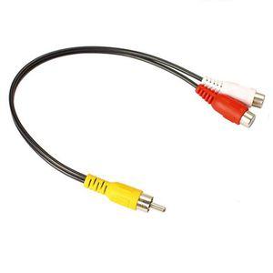 Fil - Conducteur Cable audio video Repartiteur RCA (phono) Y male a