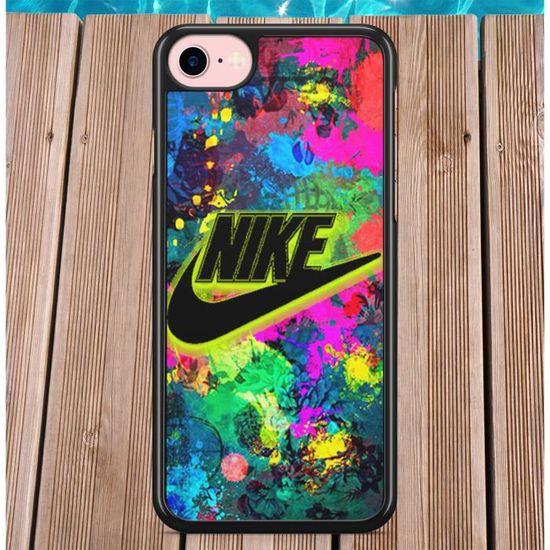 Coque iPhone 5 5s SE Nike Motif Art de Rue Couleurs Flashy Fun ...