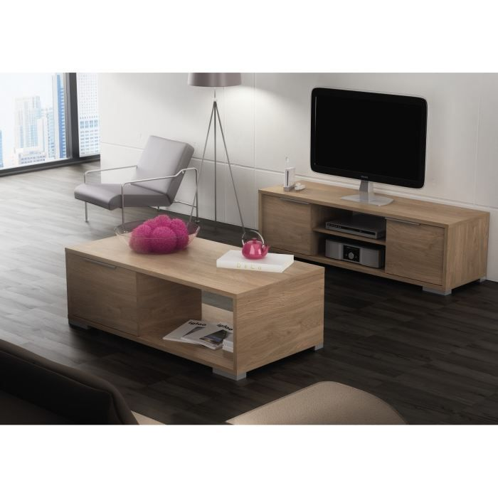 zwin ensemble meuble tv table basse d cor ch ne brighton achat vente salon complet zwin. Black Bedroom Furniture Sets. Home Design Ideas