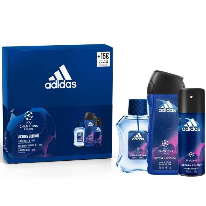 ADIDAS Coffret UEFA 5 Victory Edition - Eau de toilette 100 ml, gel douche 250 ml et déodorant parfumant 150 ml
