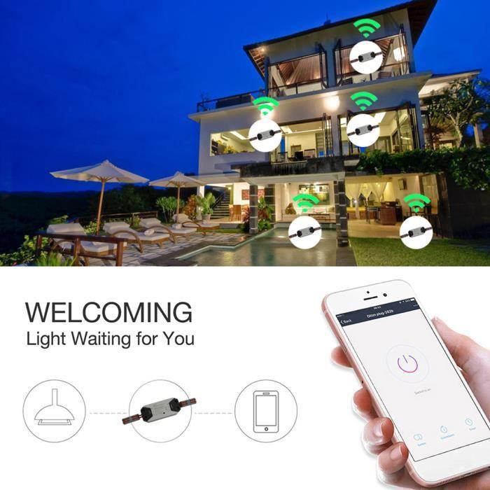 Wi-Fi Interrupteur disjoncteur à distance sans fil universel contrôle Timer pour Alexa @CO2145
