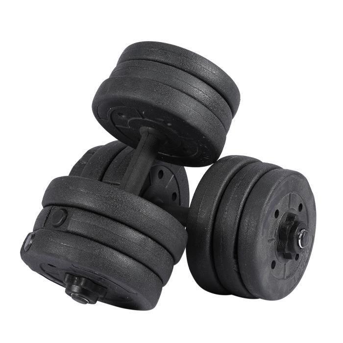 20 kg haltère ensemble musculation levage gymnase fitness barre d'haltères