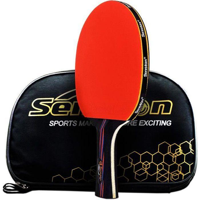 Caleson professionnel Raquette de tennis de table. Raquette de tennis avancée. Ping Pong Paddle. Ouverture de prise en main, Long
