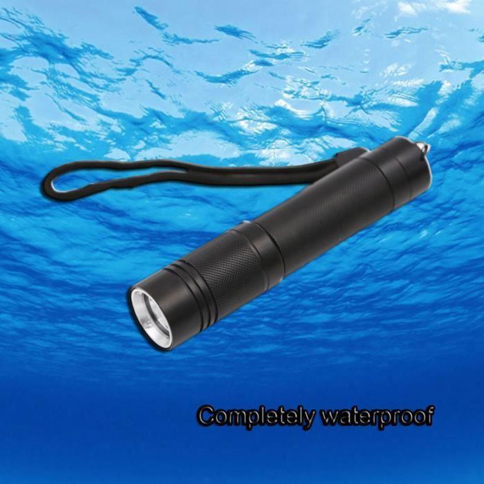 LAMPE ELECTRIQUE Alliage d'aluminium T6 lampe de poche de plongée éblouissante lampe de plongée LED de charge portative Fu783