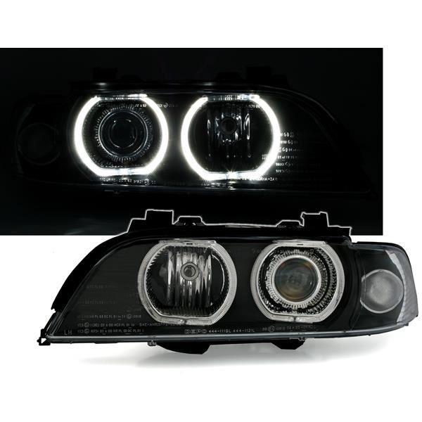 2 FEUX PHARE AVANT ANGEL EYES LED BMW SERIE 5 E39 95-00 POUR PHARE AVEC XENON D'ORIGINE D2S