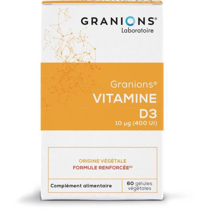 GRANIONS® VITAMINE D3 10 G (BTE 60 GÉLULES)