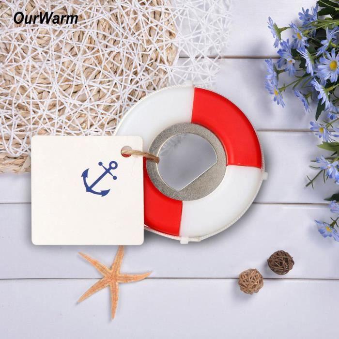 OurWarm-ouvre-bouteille lève-pied 5 pièces - Souvenirs de mariage nautiques, cadeaux de décoration pour inv - Modèle: - WMKPQA07002