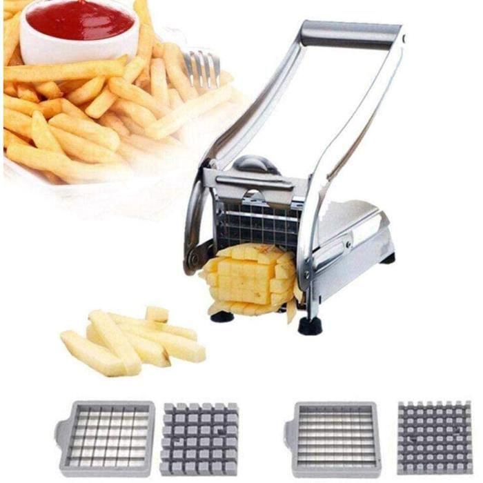 Coupe Frite Coupe Frites INOX Professionnelle Patates DoucesAcier Inoxydable avec Fond D'aspiration Ronde Veg Slicer pour Patates