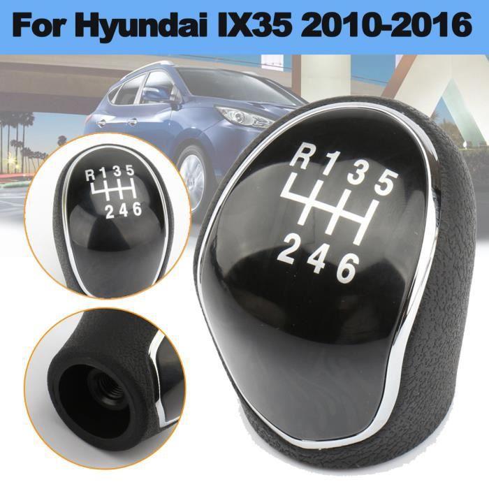Pommeau de Levier de Vitesse Bouton Tete Manette de Changement de Voiture à 6 Vitesses Pour Hyundai IX35 2010-2016