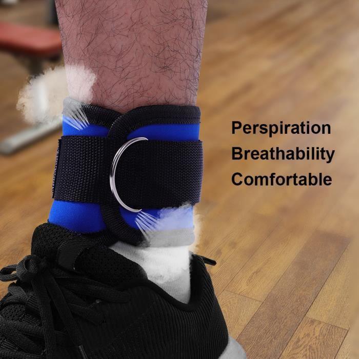 Sangles de cheville Jambe Musculation Anneau de pied Power Strap pour le fitness (bleu)