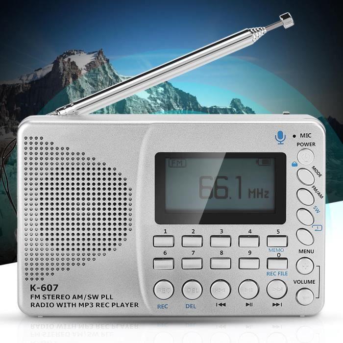 Radios portables, Enregistreur de radio-cassette avec carte d'insertion de toutes les bandes d'ondes Prise en charge de la carte