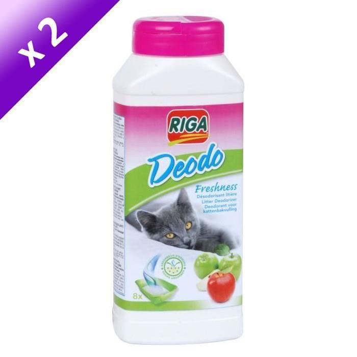 Lot de 2 - RIGA Déodolitière pomme - Pour chat