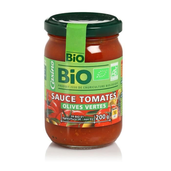 Sauce Tomate Olive Bio 200g