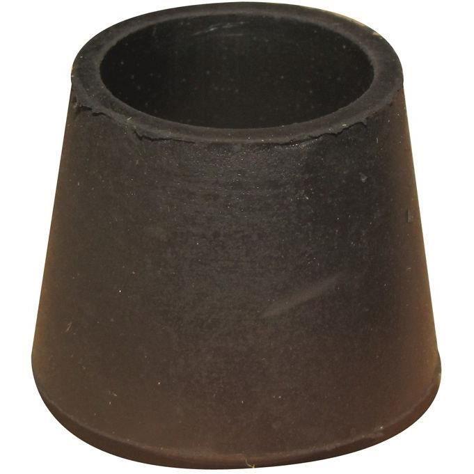 Embout patin enveloppant - noir - lot de 100 - D: 18 mm