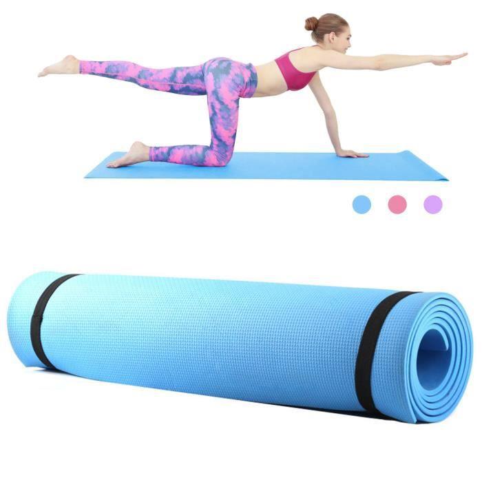 6mm d'épaisseur EVA mousse Yoga tapis antidérapant Yoga Pilates exercice Fitness tapis 68X24 pouces-59