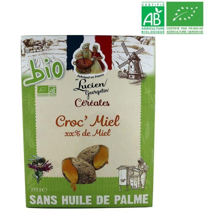 LUCIEN GEORGELIN Céréales Croc' Miel bio - 375 g