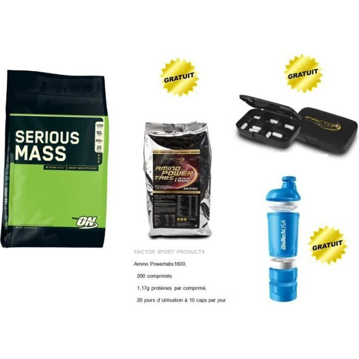 Serious Mass - 5,4 kg - Banane Superpack