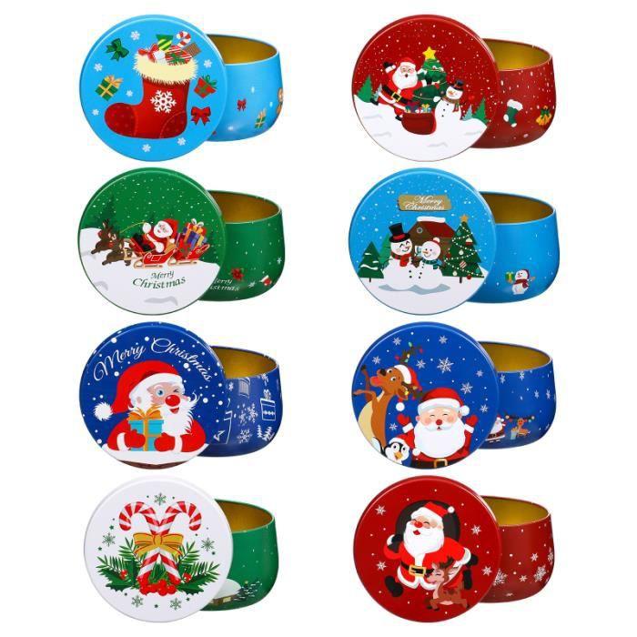 8pcs Portable Adorable Candy Jars Bougies Bougeons pour cadeau de stockage bonbons cremeux confiserie chocolat