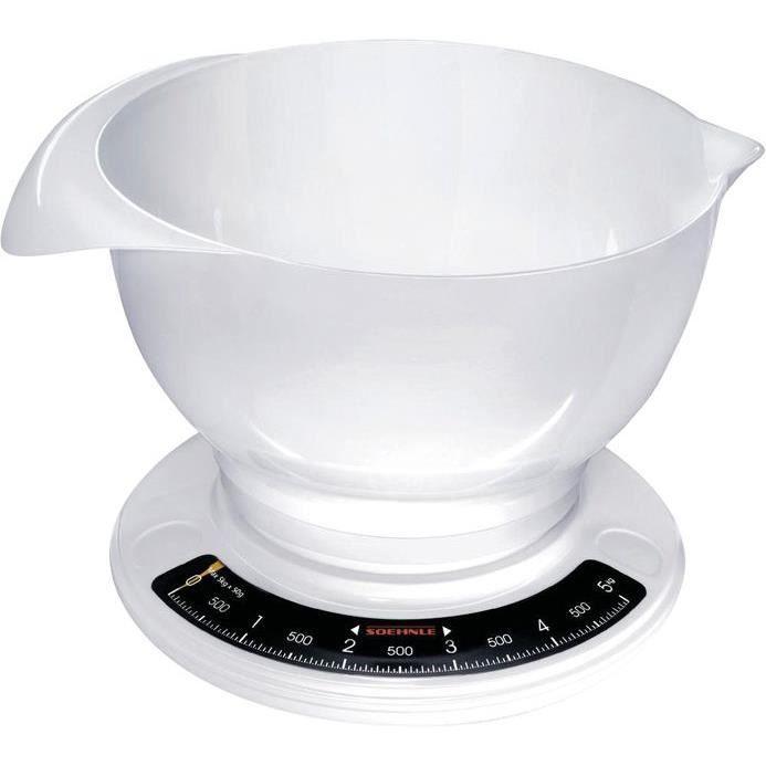 Balance de cuisine mécanique 5kg - blanc