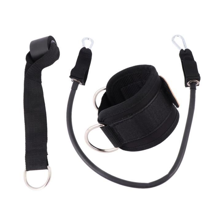 1 ensemble de sport reliant la boucle de jambe équipement de formation de fitness anneaux de pied portail cadre force de hanche