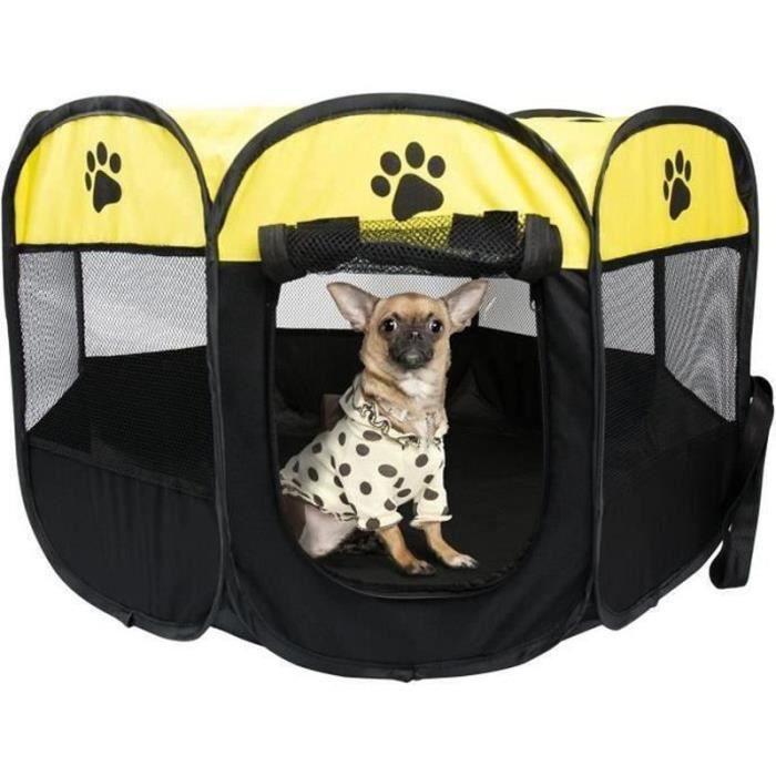 LD31151-REMYCOO Parc à Chiots Chiens, Cage de Chien Octogonal Petits Animaux ,enclos pour animaux Pliable