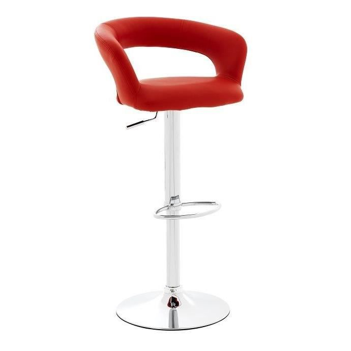 tabouret de bar drink rouge achat vente tabouret de bar cdiscount. Black Bedroom Furniture Sets. Home Design Ideas