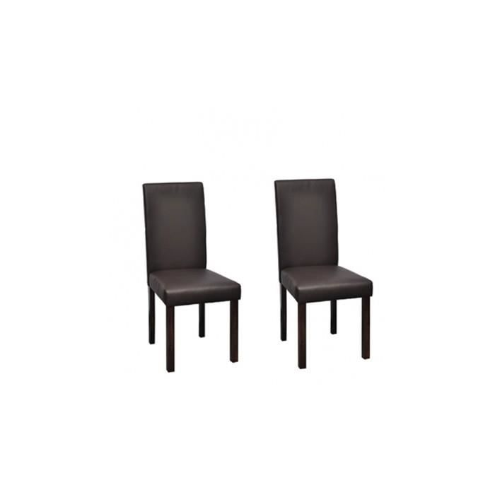 Chaise design classique marron lot de 2 achat vente chaise marron cdi - Cdiscount chaise design ...