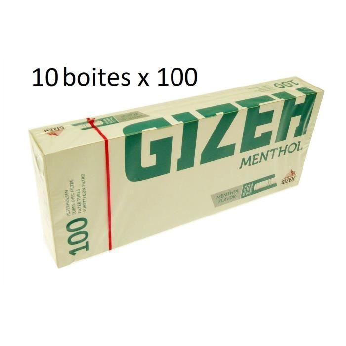 TUBE À CIGARETTE Lot De 10 Boîtes De 100 Tubes À Cigarettes Menthol