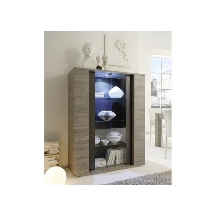 vitrine canberra avec clairage led achat vente vitrine argentier vitrine canberra avec. Black Bedroom Furniture Sets. Home Design Ideas