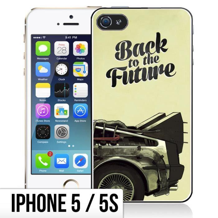 Coque iPhone 5-5S Back To The Future - DeLorean