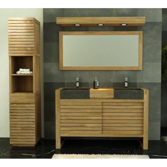 meuble salle de bain ouessant 140 en teck achat vente. Black Bedroom Furniture Sets. Home Design Ideas