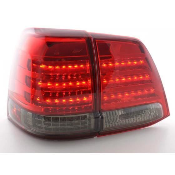 led feux arri res pour toyota land cruiser type fj200 an 07 08 noir rouge ann e 2007. Black Bedroom Furniture Sets. Home Design Ideas