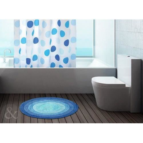 just contempo tapis de bain rond 100 coton lavable tissu ponge 100 coton bleu bleu marine. Black Bedroom Furniture Sets. Home Design Ideas